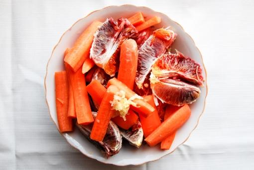 Suc de morcovi cu portocale rosii si grapefruit_ ingrediente